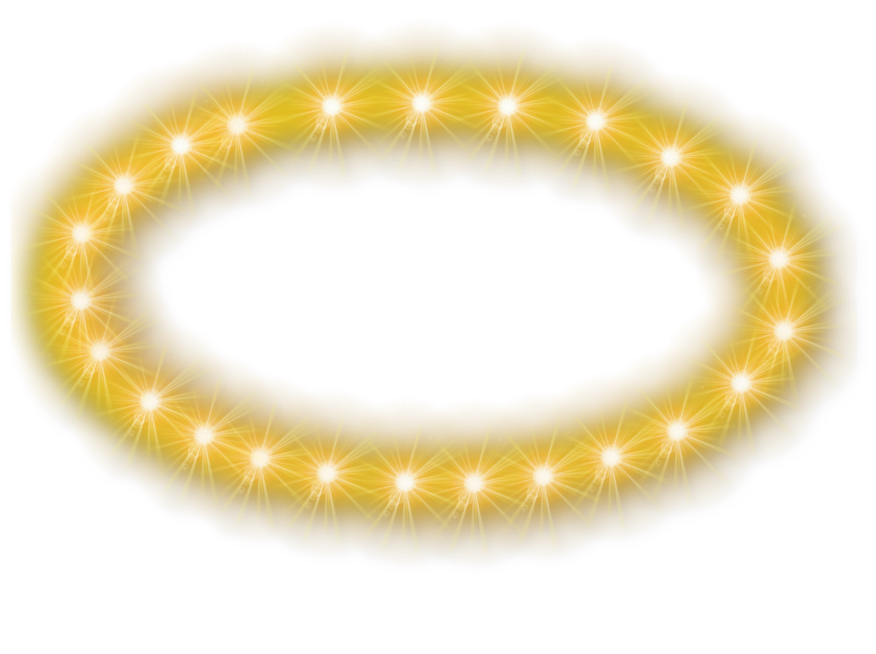 Glowing Halo Transparent Background PNG Image