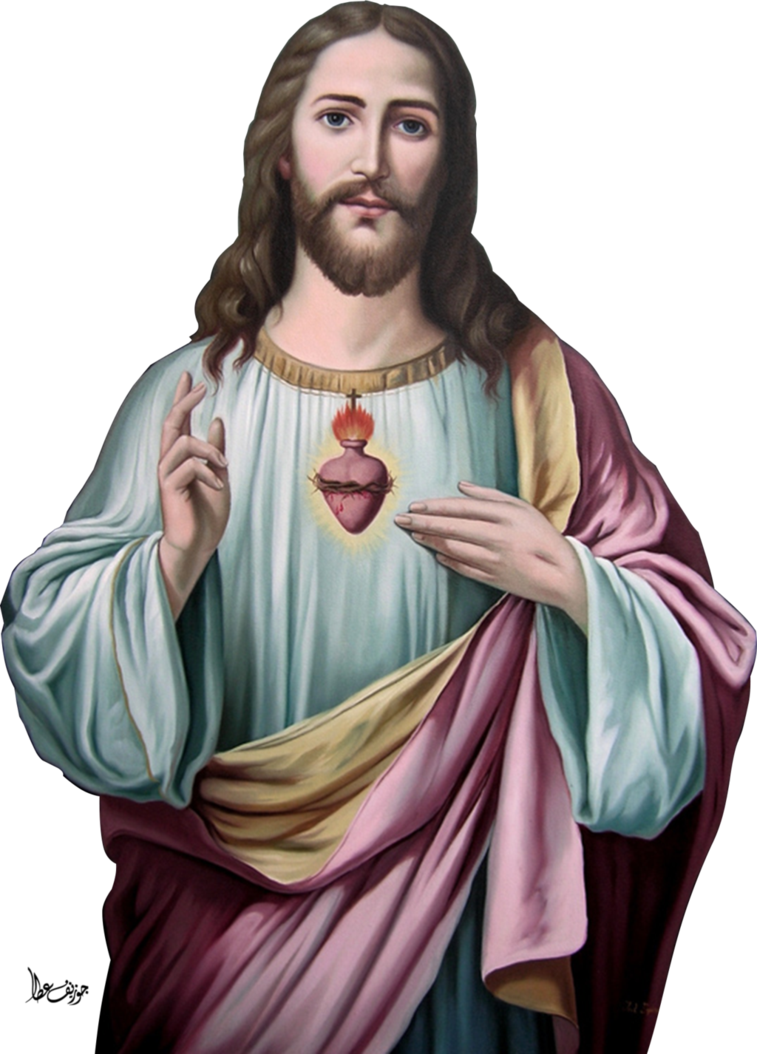 Heart Christ God Jesus Religion Sacred Prayer PNG Image