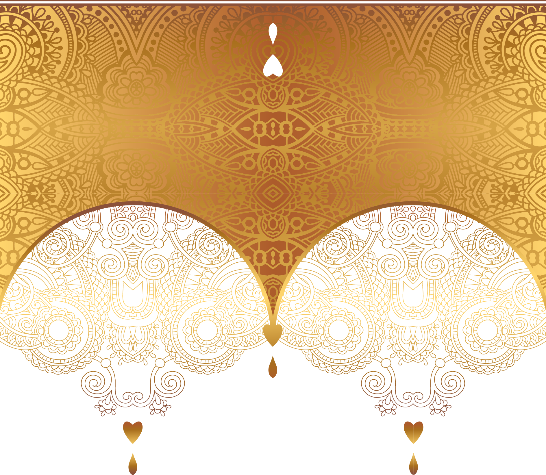 Gold Ornament Euclidean Vector Luxury Card PNG Image