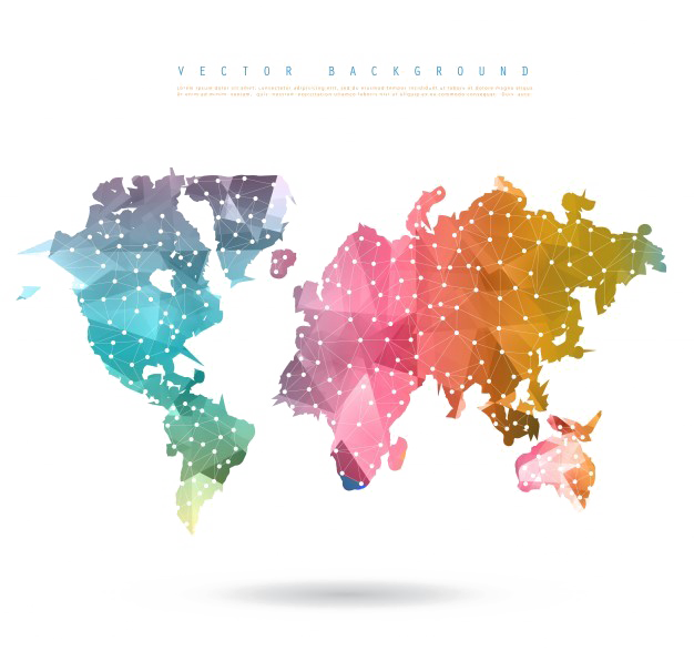 Abstract World Map Picture Free Clipart HD PNG Image