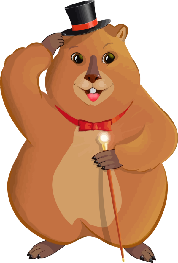 Groundhog Day Cartoon Squirrel For Eve Party PNG Image