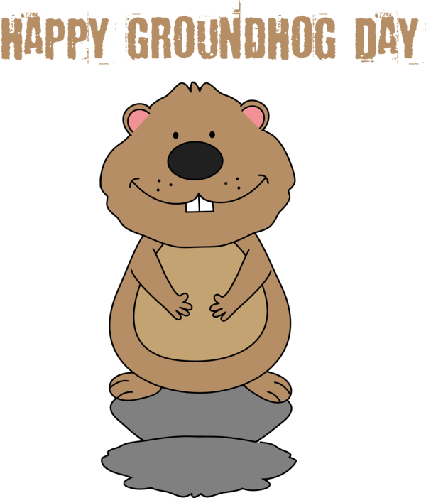 Groundhog Day Cartoon For Traditions PNG Image