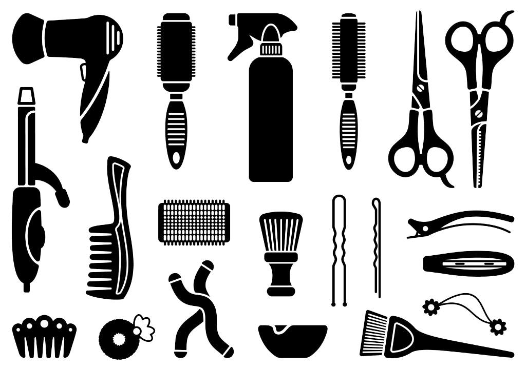 Icon Hairdresser Tool Design Comb Hairdressing PNG Image
