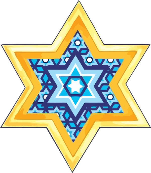 Hanukkah Line Pattern Design For Happy Eve Party PNG Image