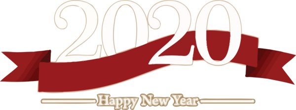 New Year 2020 Font Text Logo For Happy Ideas PNG Image