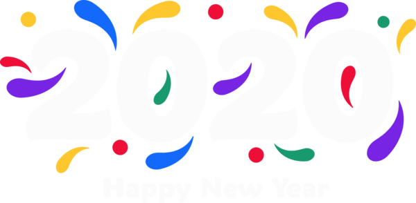 New Year 2020 Heart Font Smile For Happy Around The World PNG Image