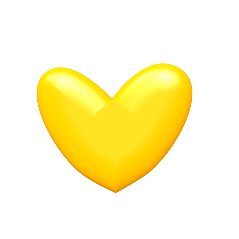 Yellow Heart Image PNG Image