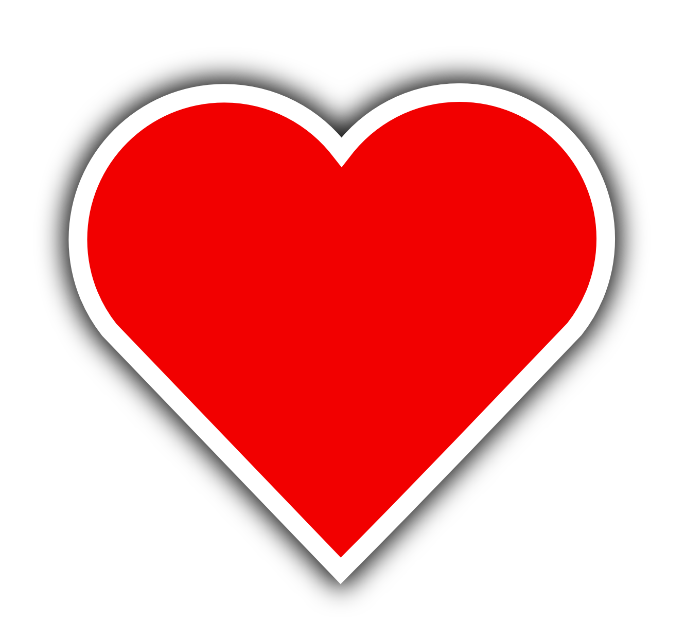Red Heart File PNG Image