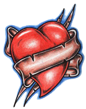 Heart Tattoos Png Picture PNG Image