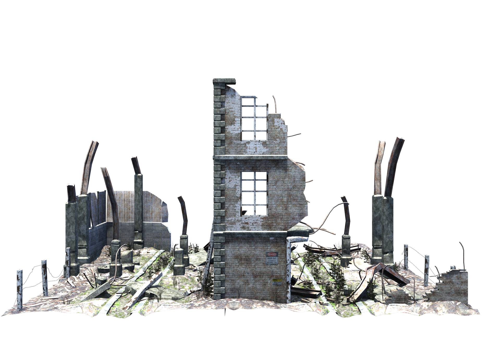 Ruined Building Png PNG Image