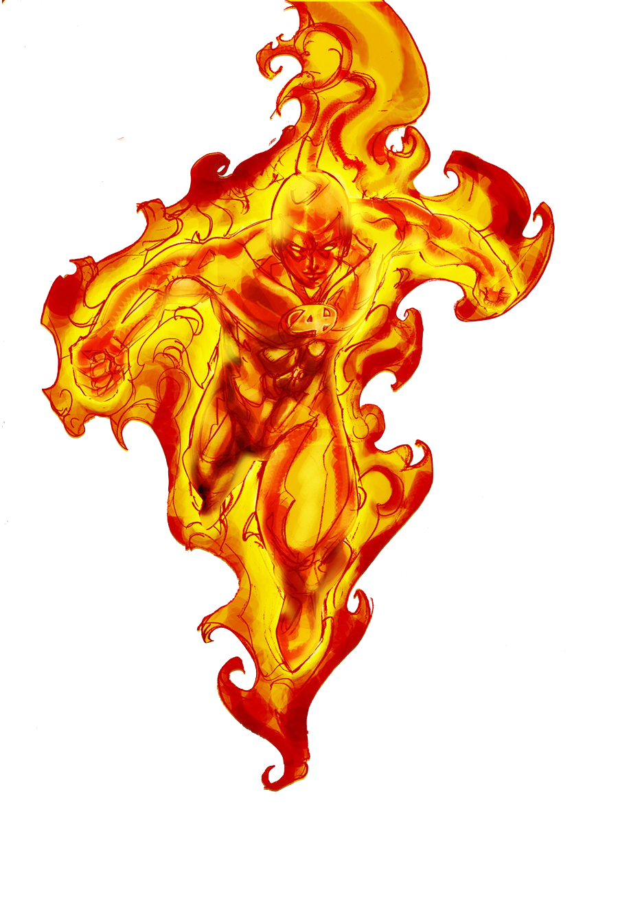 Human Torch Transparent PNG Image
