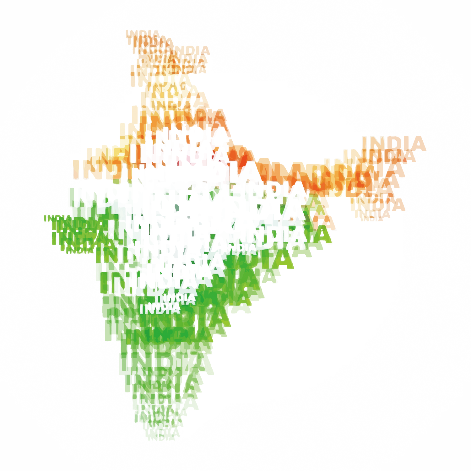 Map India Indian World Day Independence PNG Image