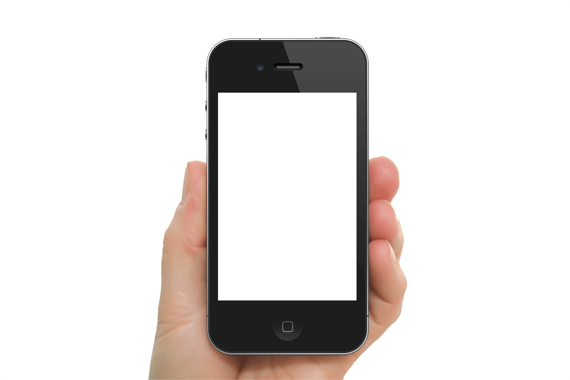 Black Iphone In Hand Transparent Png Image PNG Image
