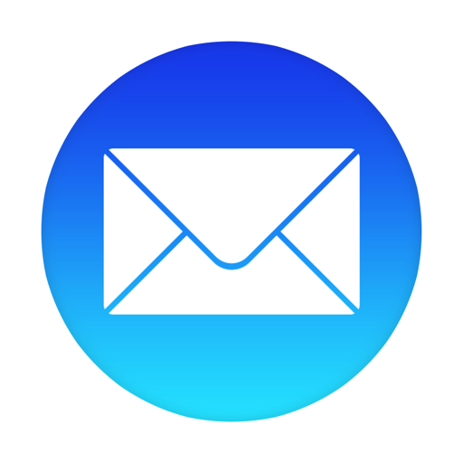 Blue Triangle Electric Area Symbol Mail PNG Image