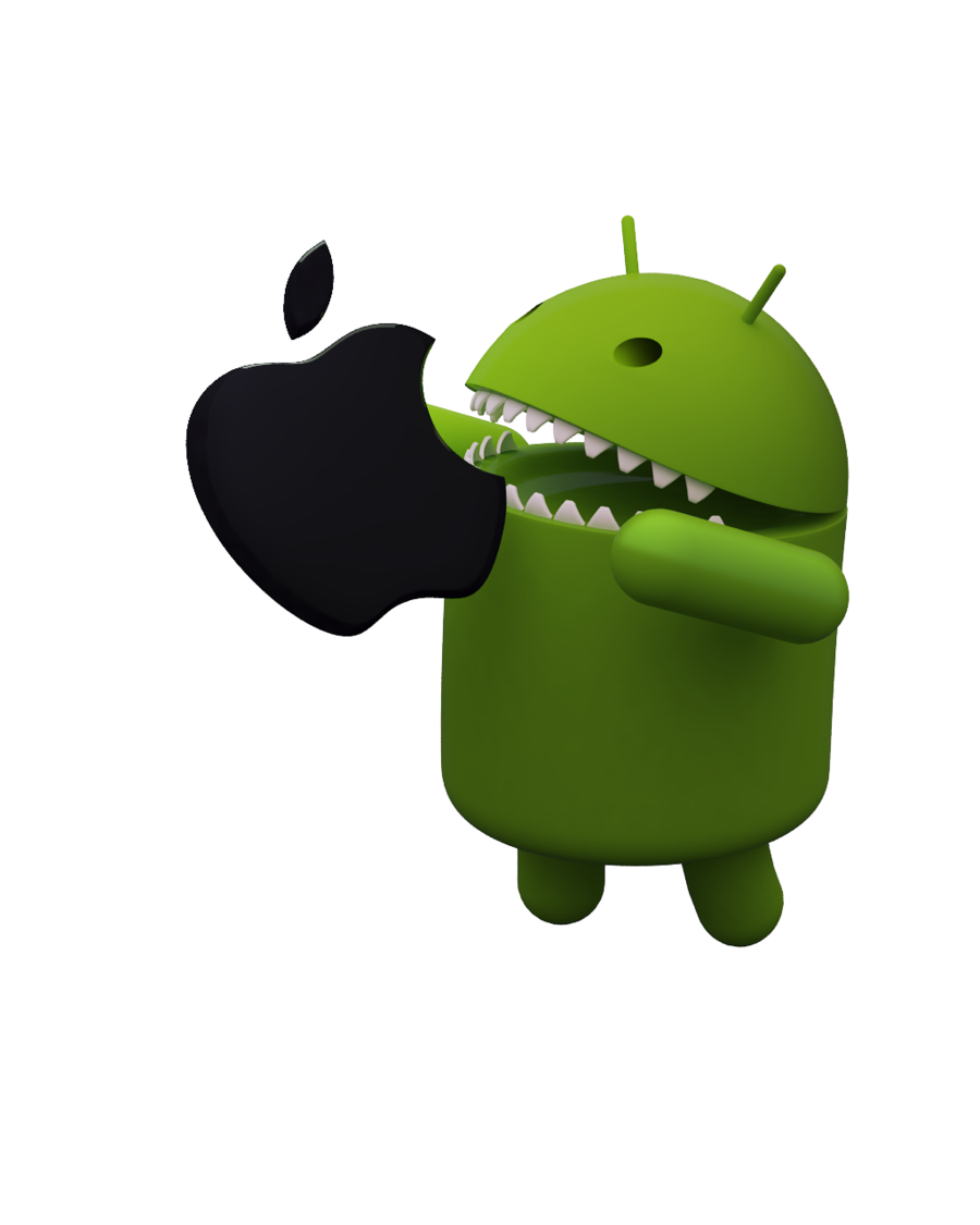 Android Vs Iphone Apple Free Download PNG HD PNG Image