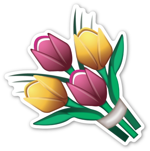 Emoticon Flower Sticker Iphone Flowers Mint Emoji PNG Image