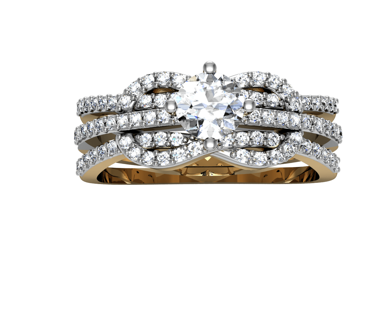 Silver Ring With Diamonds Png PNG Image