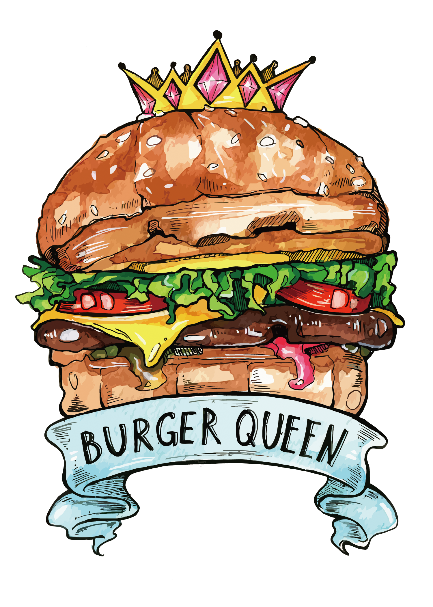 King Hamburger Food Cheeseburger Fast Burger Vector PNG Image