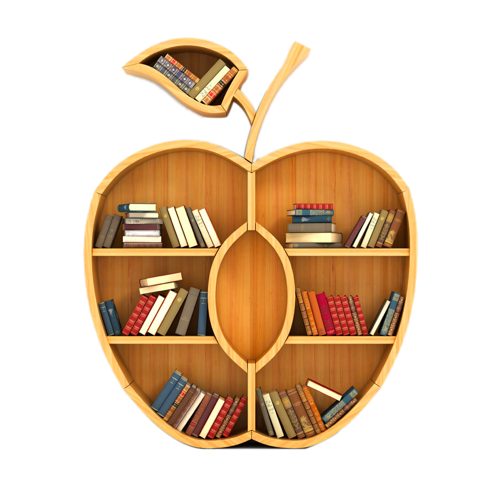 Concept Apple Creative Bookcase Key Bookshelf Knowledge PNG Image