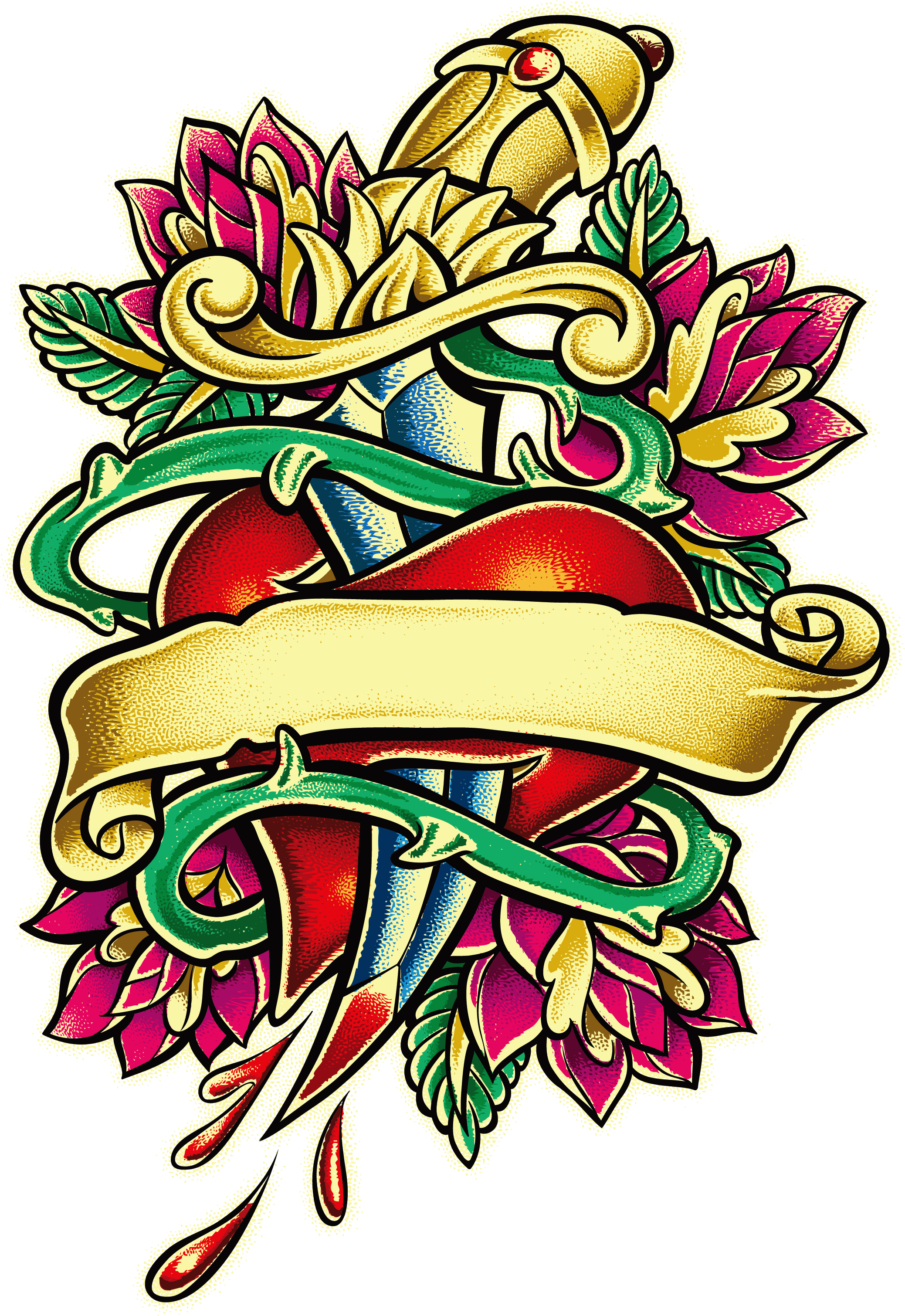 Rose Vector Fragrance Tattoo Free PNG HQ PNG Image