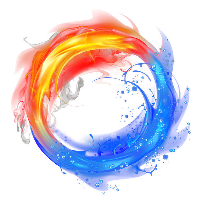 Fire Light And Flame Ice PNG Image High Quality PNG Image