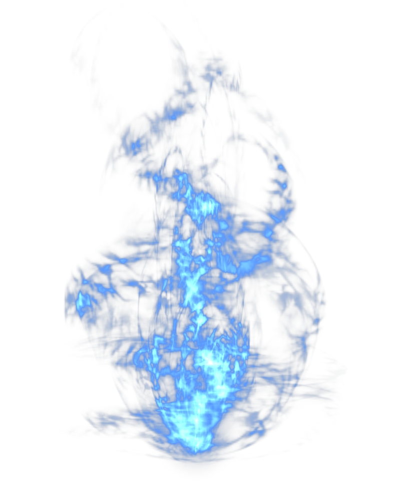 Blue Picture Light Dynamic Effect Flame PNG Image