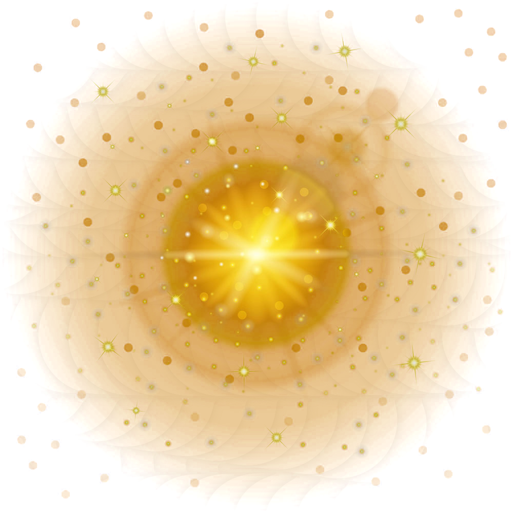 Light Effect Yellow Lens Fantasy Flare PNG Image