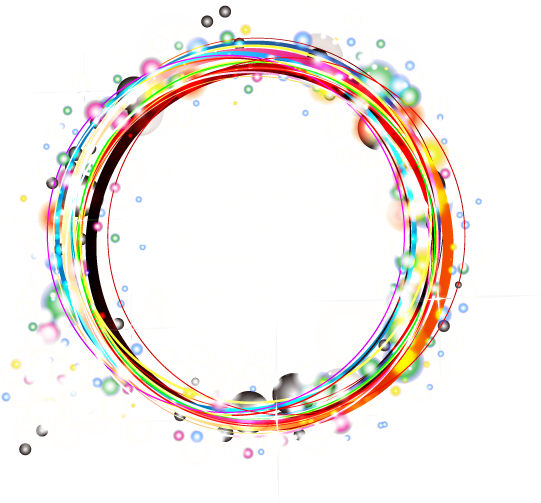 Color Light Frame Effect Theme Circle PNG Image