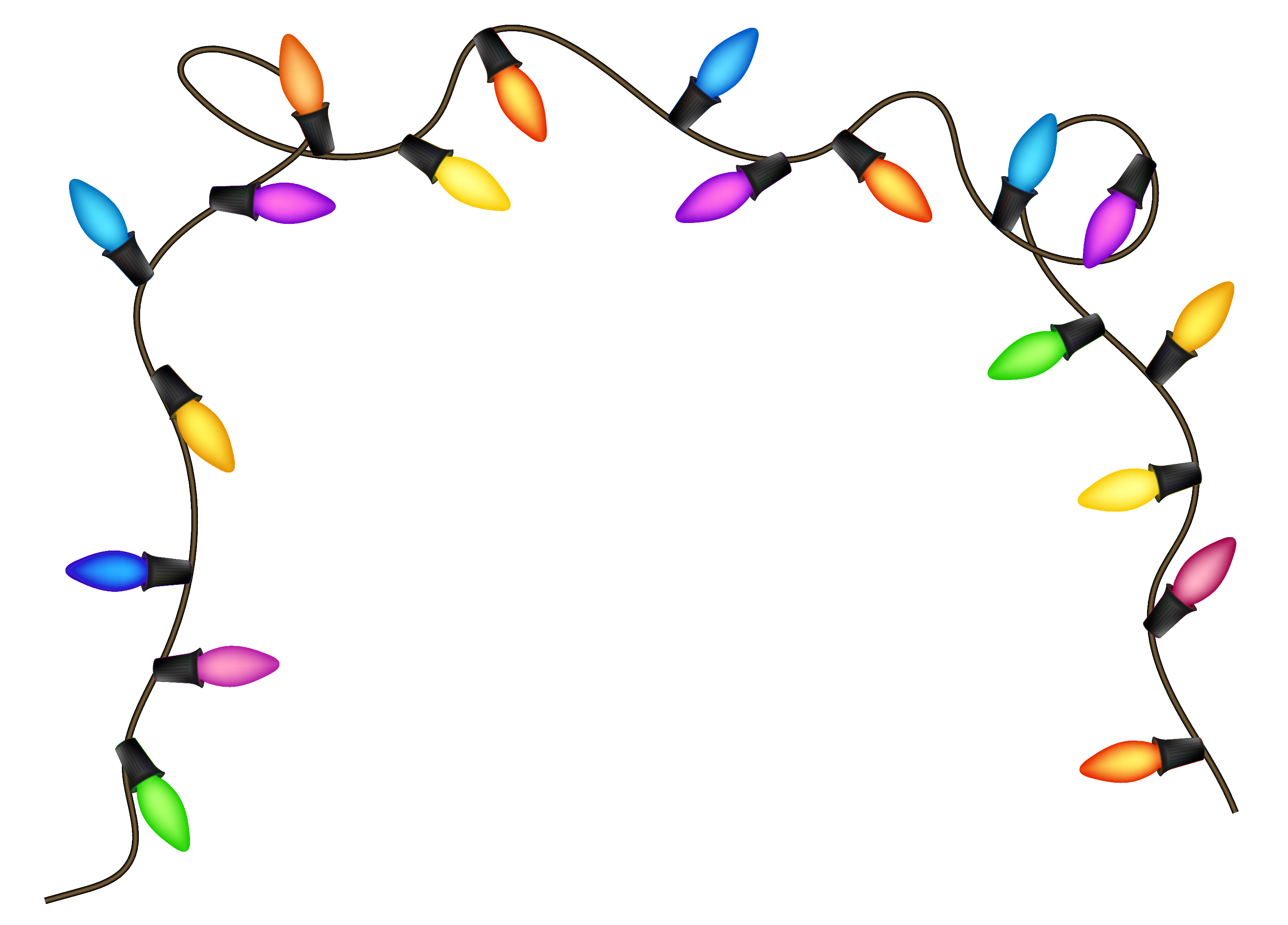 Christmas Decoration Lights Hd PNG Image