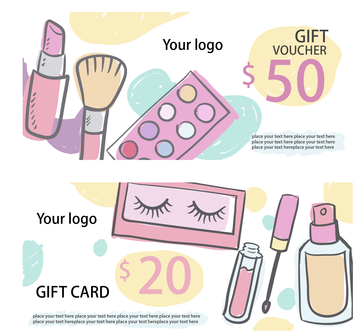 Discount Cosmetics Card Hand-Painted Download HD PNG PNG Image