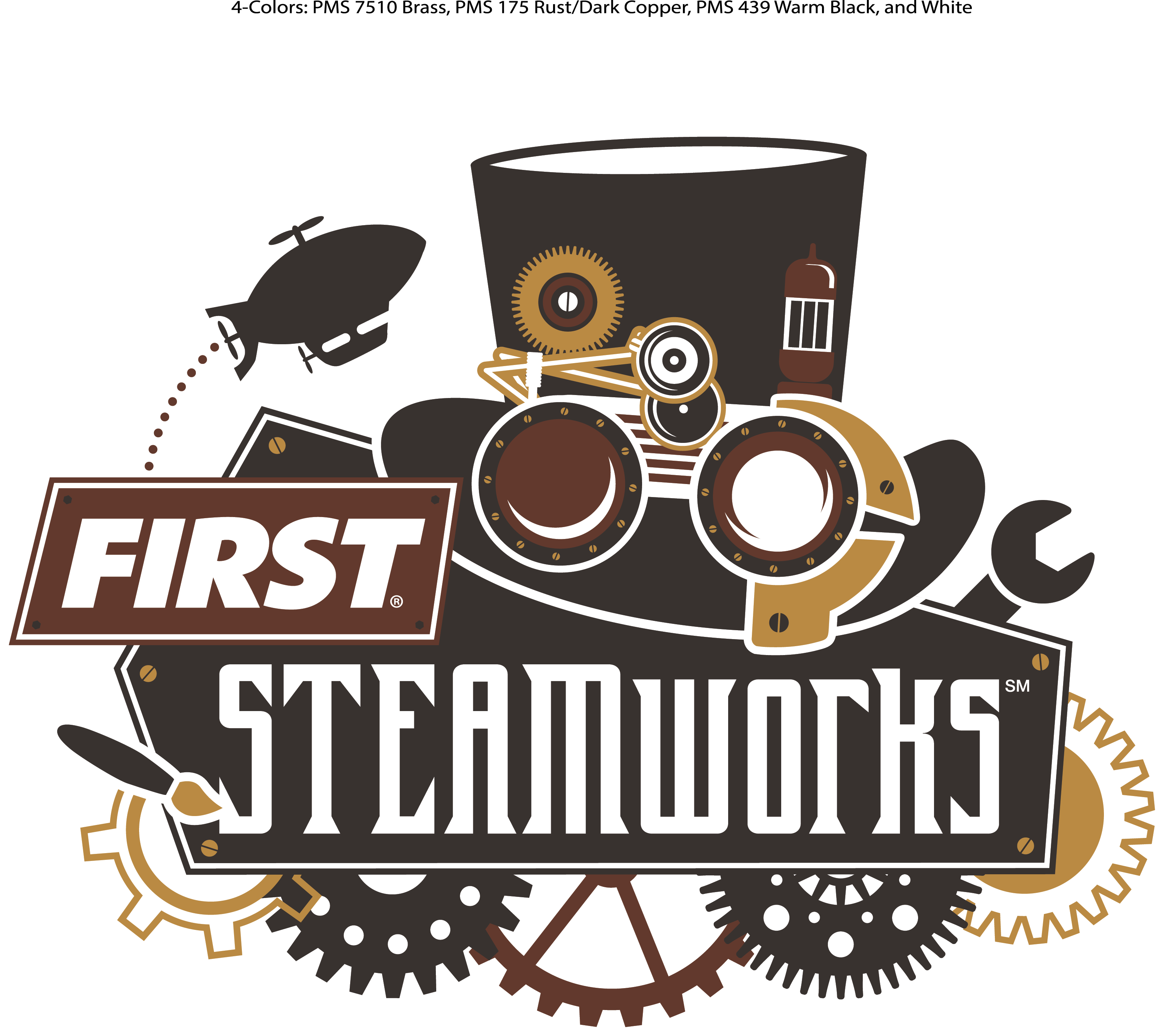 Rush Championship Steamworks Robot Motion Recycle Logo PNG Image