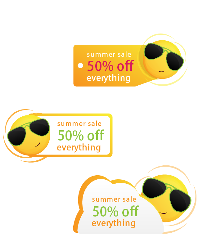 Sun Price Label Discount Tag Logo PNG Image