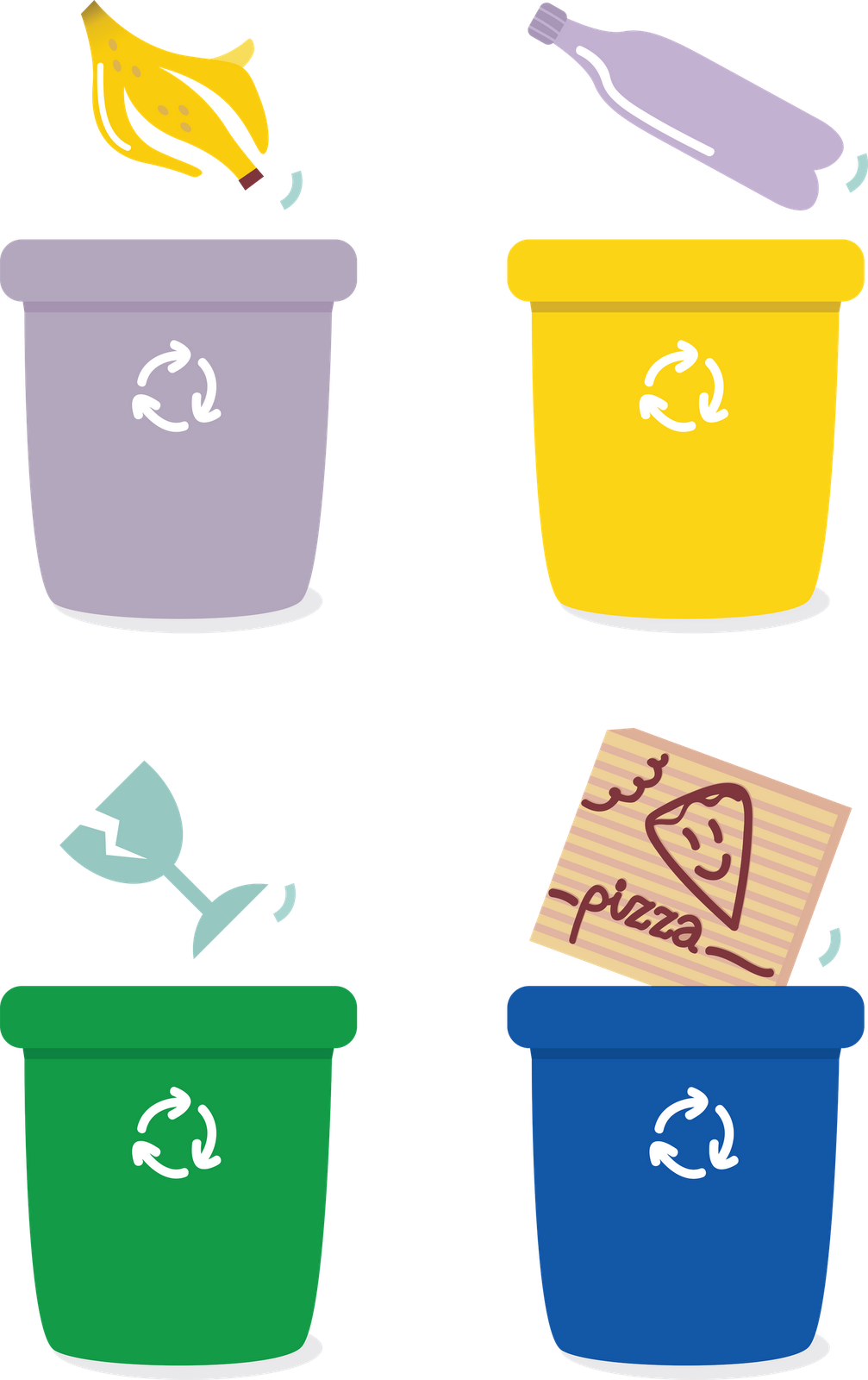 Bin Sorting Recycling Baskets Paper Rubbish Recycle PNG Image
