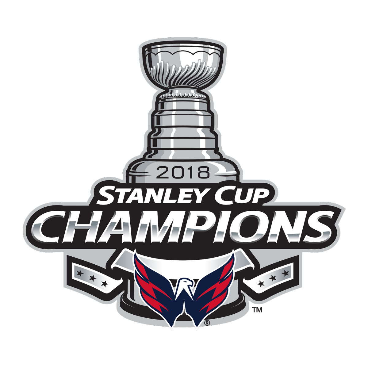 Playoffs Outerwear Cup Capitals Washington 2018 Logo PNG Image