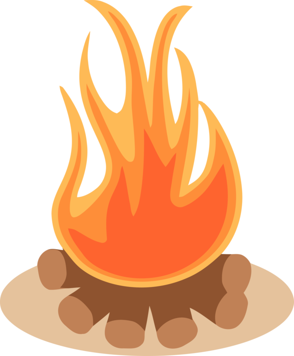 Lohri Flame Orange Fire For Happy Holiday 2020 PNG Image