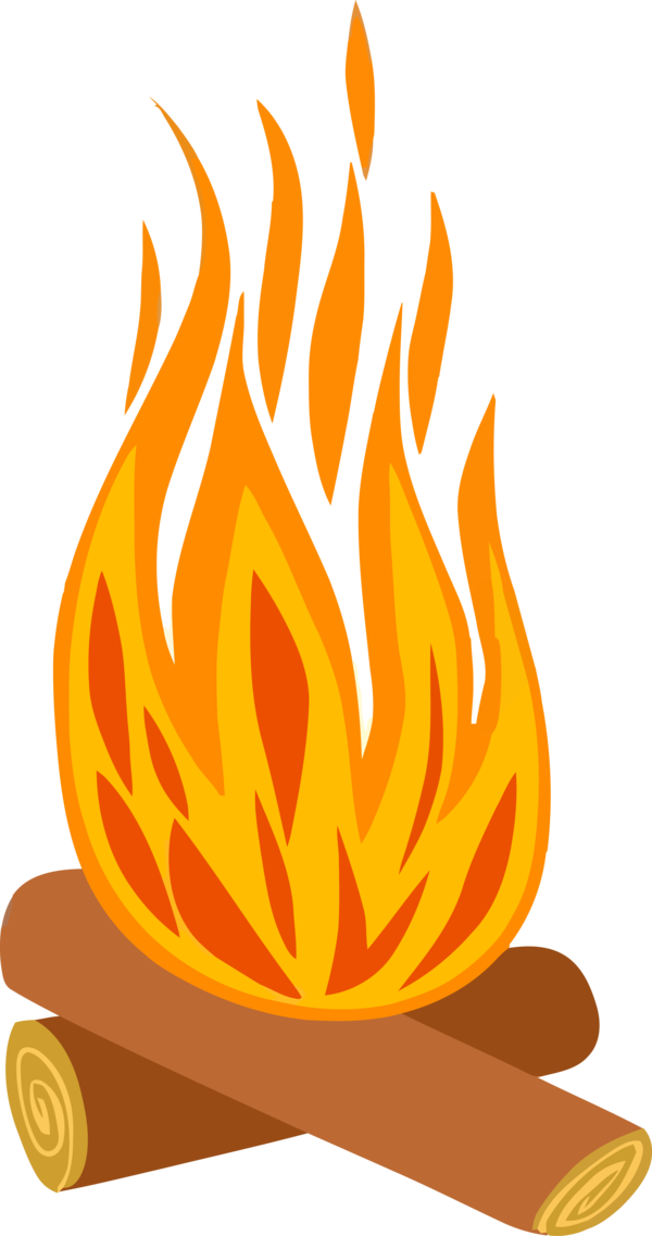 Lohri Fire Flame Orange For Happy Drawing PNG Image
