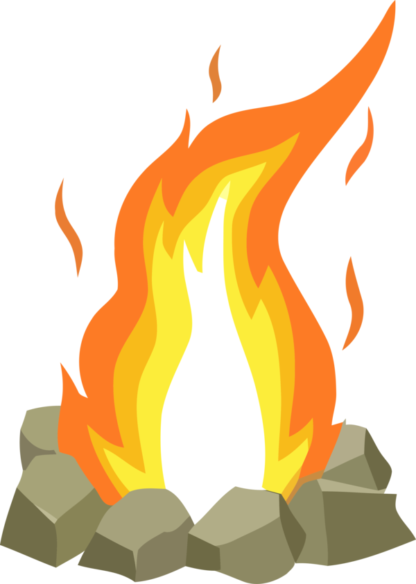Lohri Flame Fire Orange For Happy Song PNG Image
