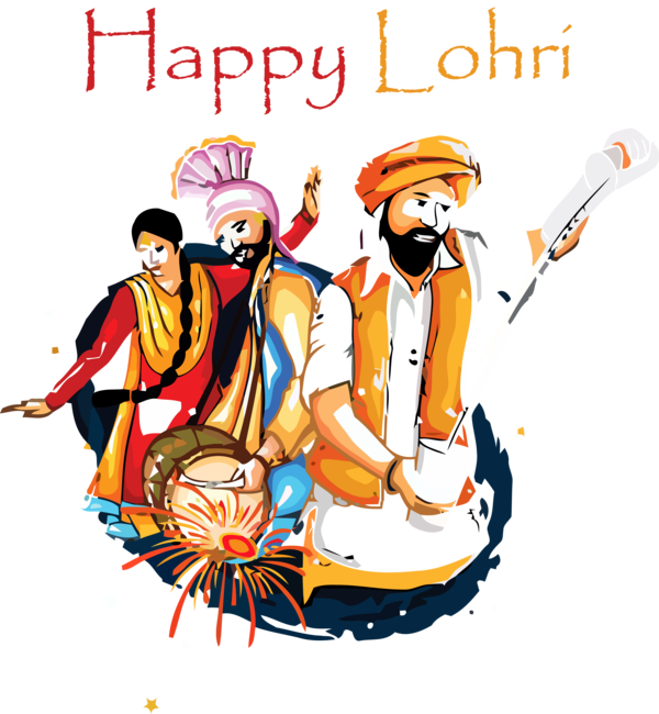 Lohri Indian Musical Instruments For Happy Activities PNG Image