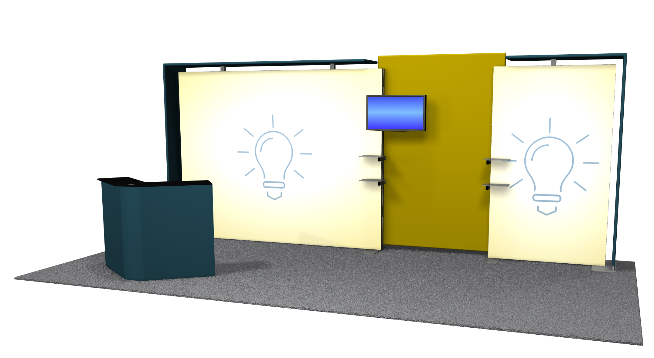 Exhibit Product Led-Backlit Exhibits Lcd Design Booth PNG Image