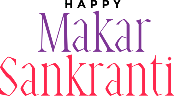 Makar Sankranti Font Text Line For Happy Activities PNG Image