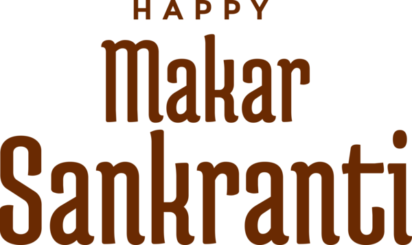 Makar Sankranti Font Text For Happy Around The World PNG Image