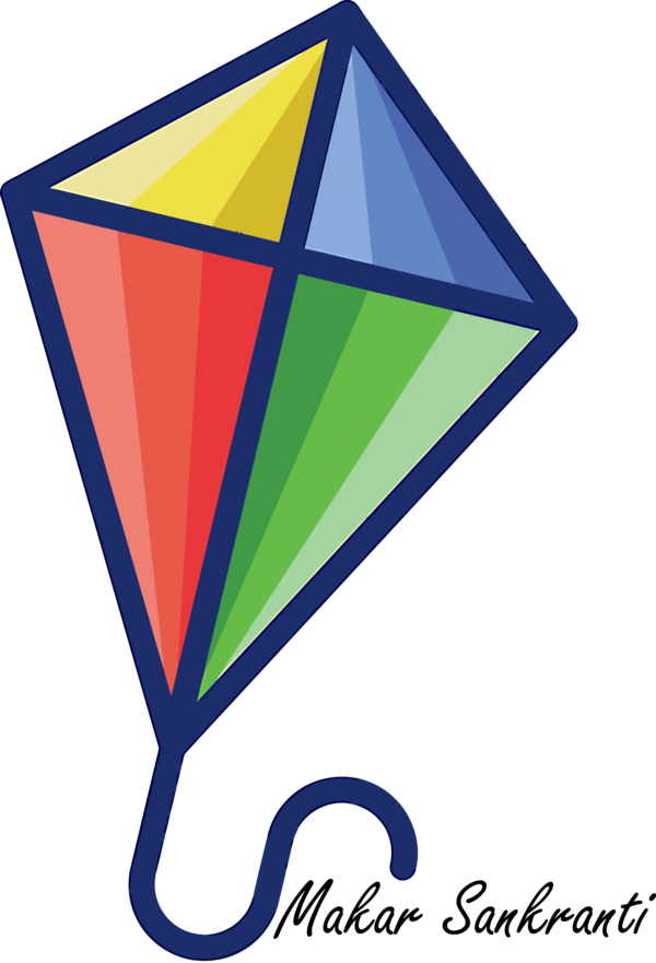 Makar Sankranti Triangle Line Logo For Happy Games PNG Image