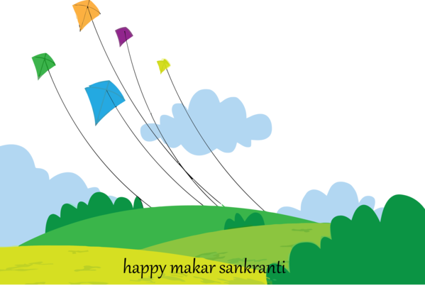 Makar Sankranti Nature Sky Hill For Happy Background PNG Image