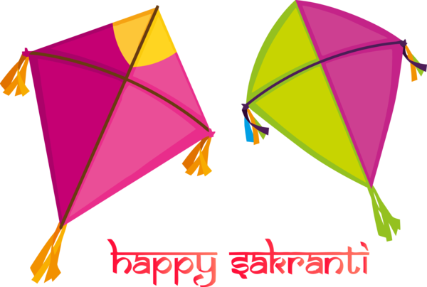 Makar Sankranti Line Leaf Sport Kite For Flying Destinations PNG Image