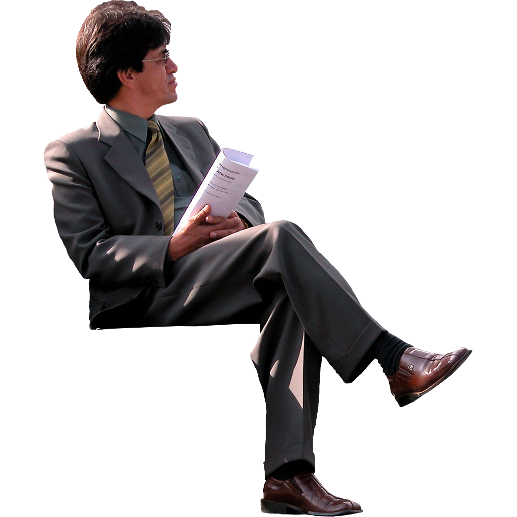 Sitting Man Photos PNG Image
