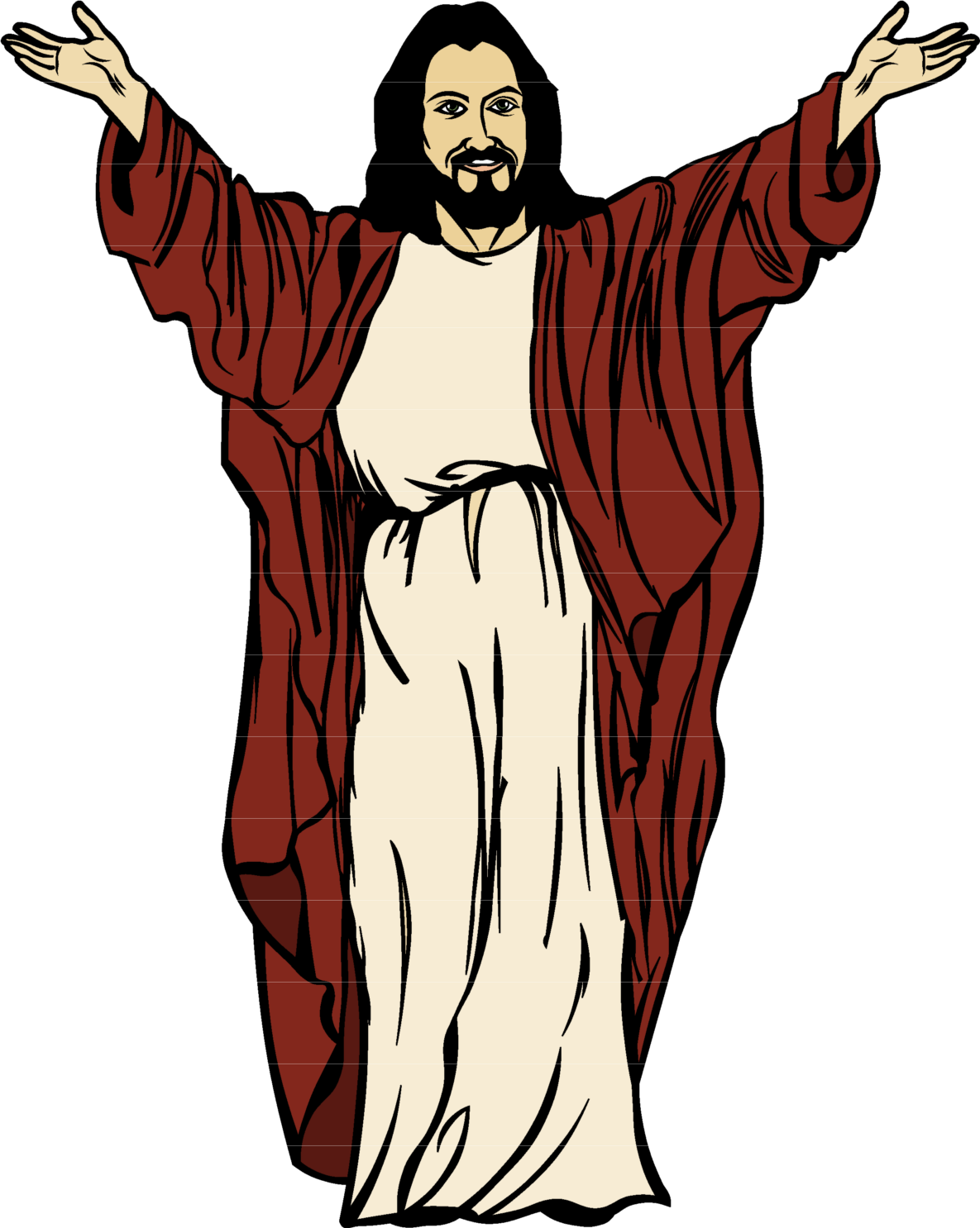 Christ Drawing Cartoon Jesus Free Clipart HD PNG Image