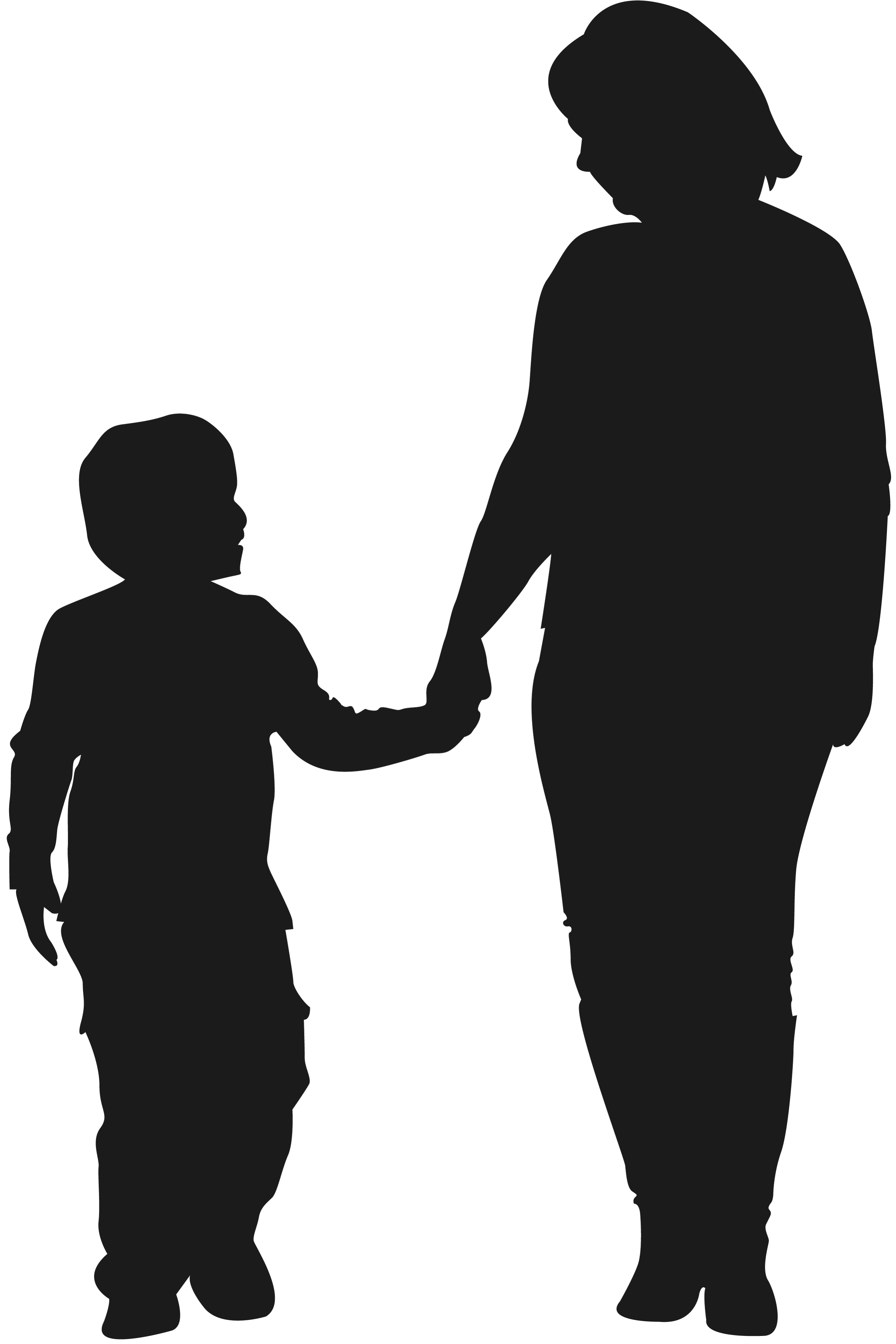 Standing Silhouette Human Mother Behavior Child PNG Image