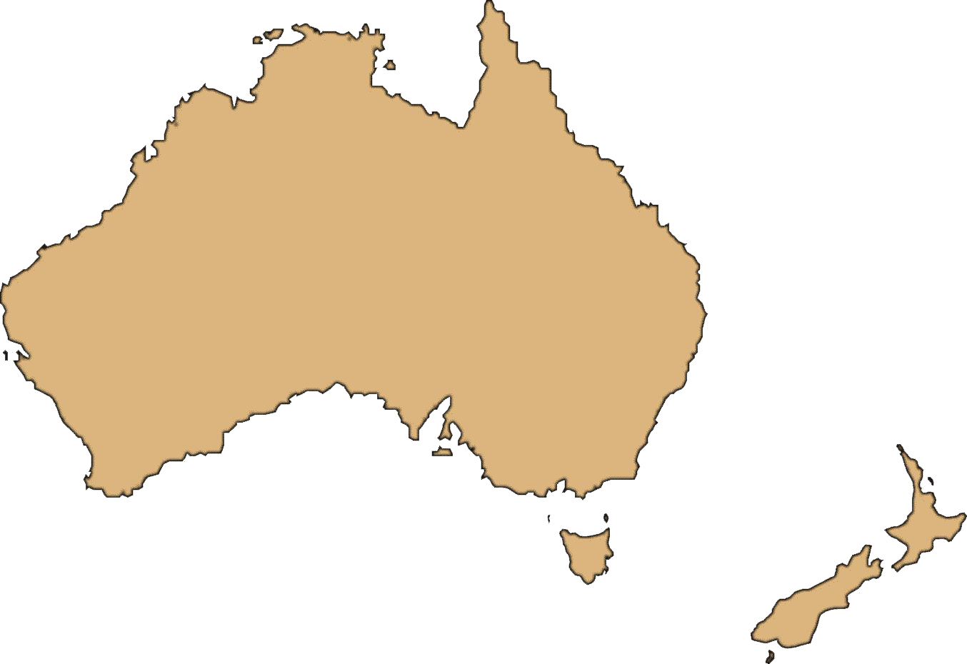 Australia Map Transparent Background PNG Image