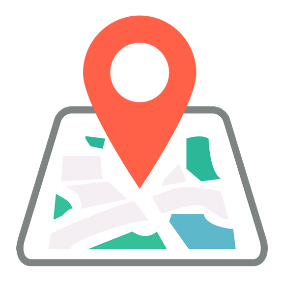 Map Tracking Location System Mark Green Red PNG Image