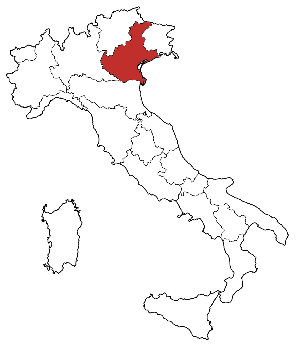 Map Coloring Italy Of Regions Book Blank PNG Image